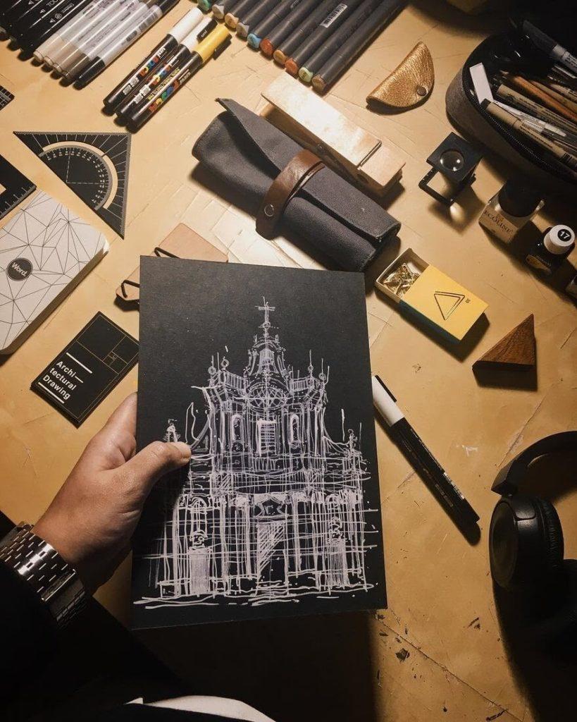 illustrazioni urbane Giuliana Flavia Cangelosi