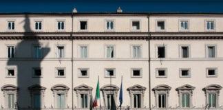 Facciata di Palazzo Chigi a Roma