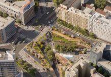 Vista della nuova piazza dalle vie Porpora e Padova - Render Ceetrus Nhood