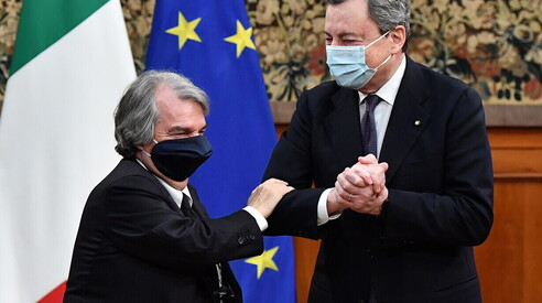 Renato Brunetta e Mario Draghi