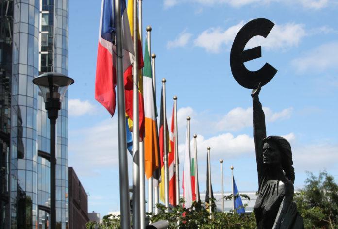 Veduta esterna del palazzo sede del Consiglio Ecofin