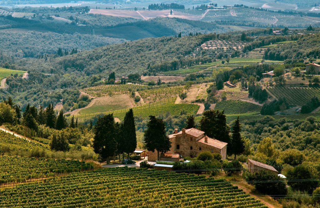 Veduta su un'area rurale, tra le zone di interesse nel progetto Smart Villages